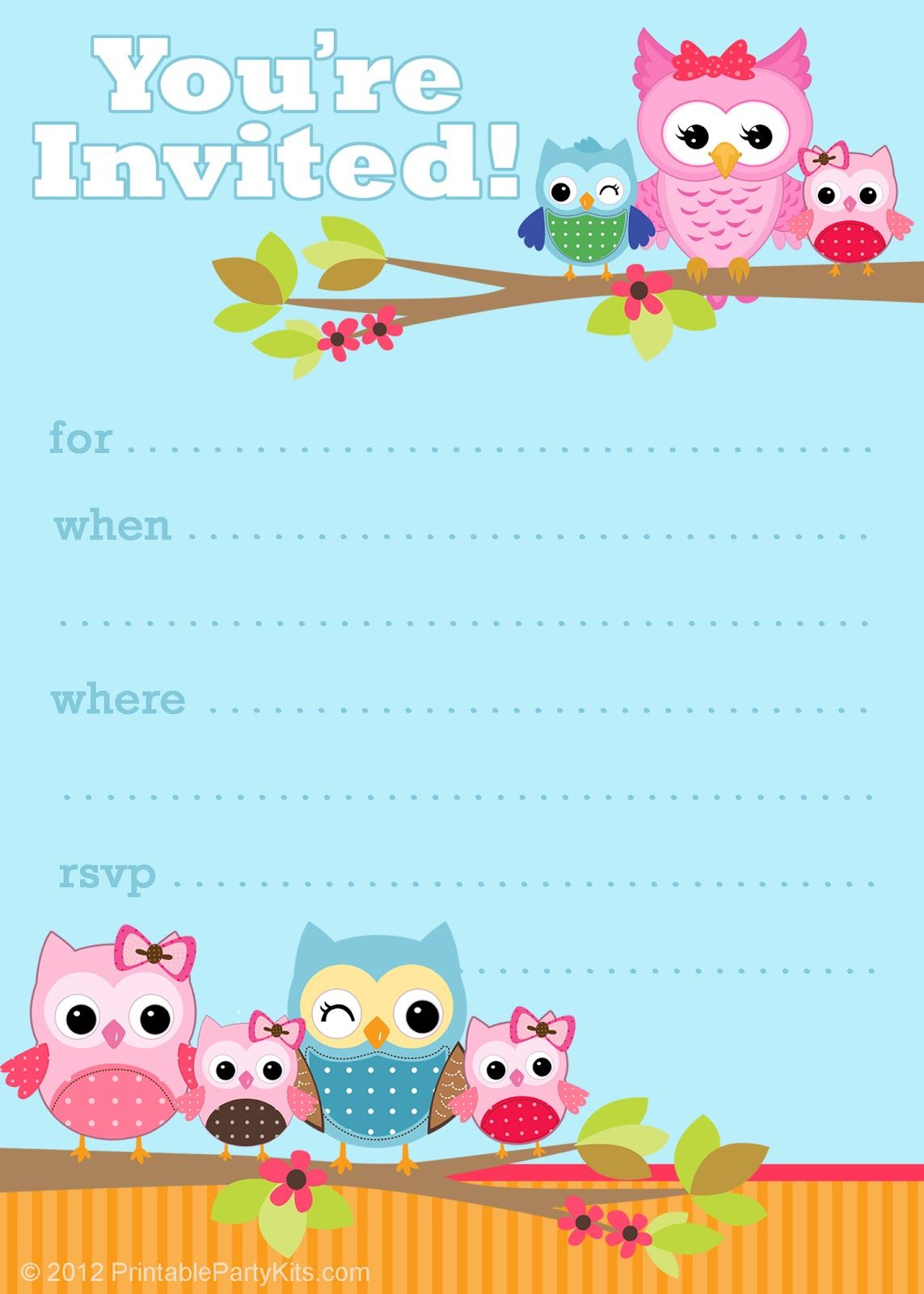 41 Printable Birthday Party Cards & Invitations For Kids To Make - Free Printable Birthday Invitation Cards