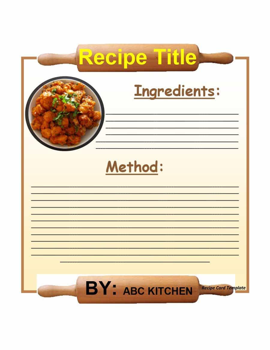 44 Perfect Cookbook Templates [+Recipe Book & Recipe Cards] - Free Printable Cookbooks Pdf