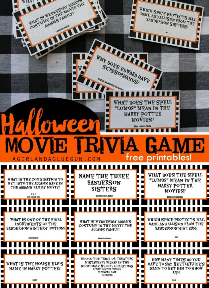 Free Printable Halloween Party Games