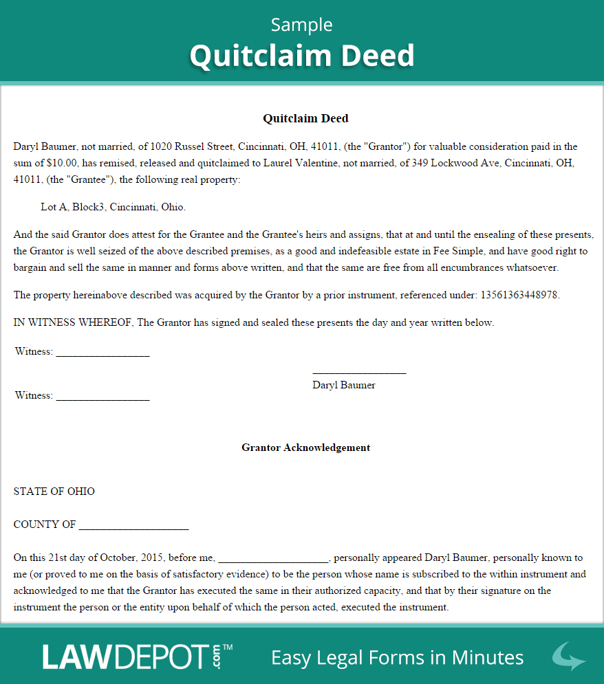 46 Free Quit Claim Deed Forms Templates Template Lab #49519005611 - Free Printable Quit Claim Deed Washington State Form