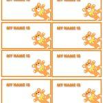 47 Free Name Tag + Badge Templates   Template Lab   Free Customized Name Tags Printable