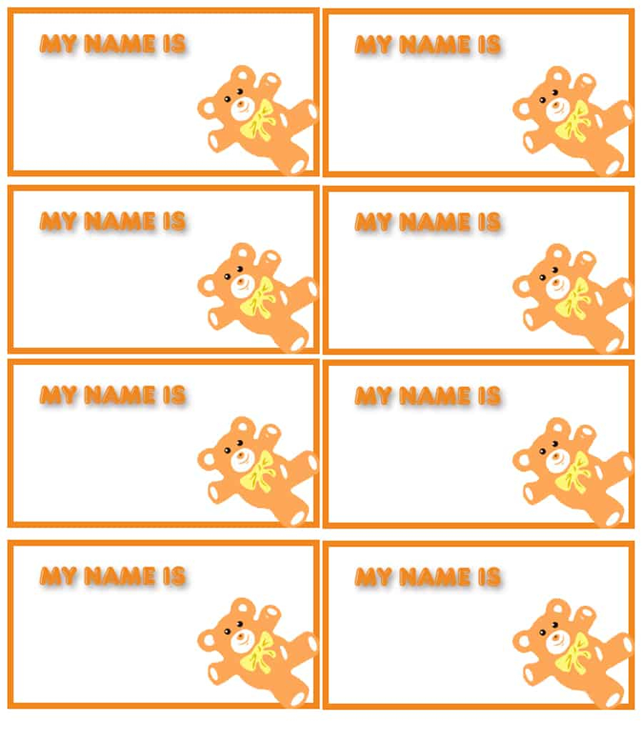 47 Free Name Tag + Badge Templates - Template Lab - Free Printable Name Tags