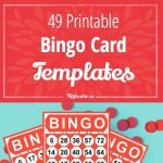49 Printable Bingo Card Templates – Tip Junkie   Fraction Bingo Cards Printable Free