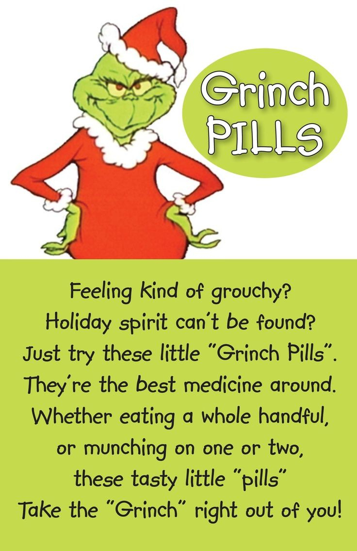5 Best Images Of Grinch Pills Printable Pattern - Grinch - Grinch Pills Free Printable