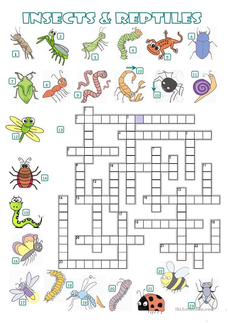 5 Free Esl Reptiles Worksheets - Free Printable Reptile Worksheets