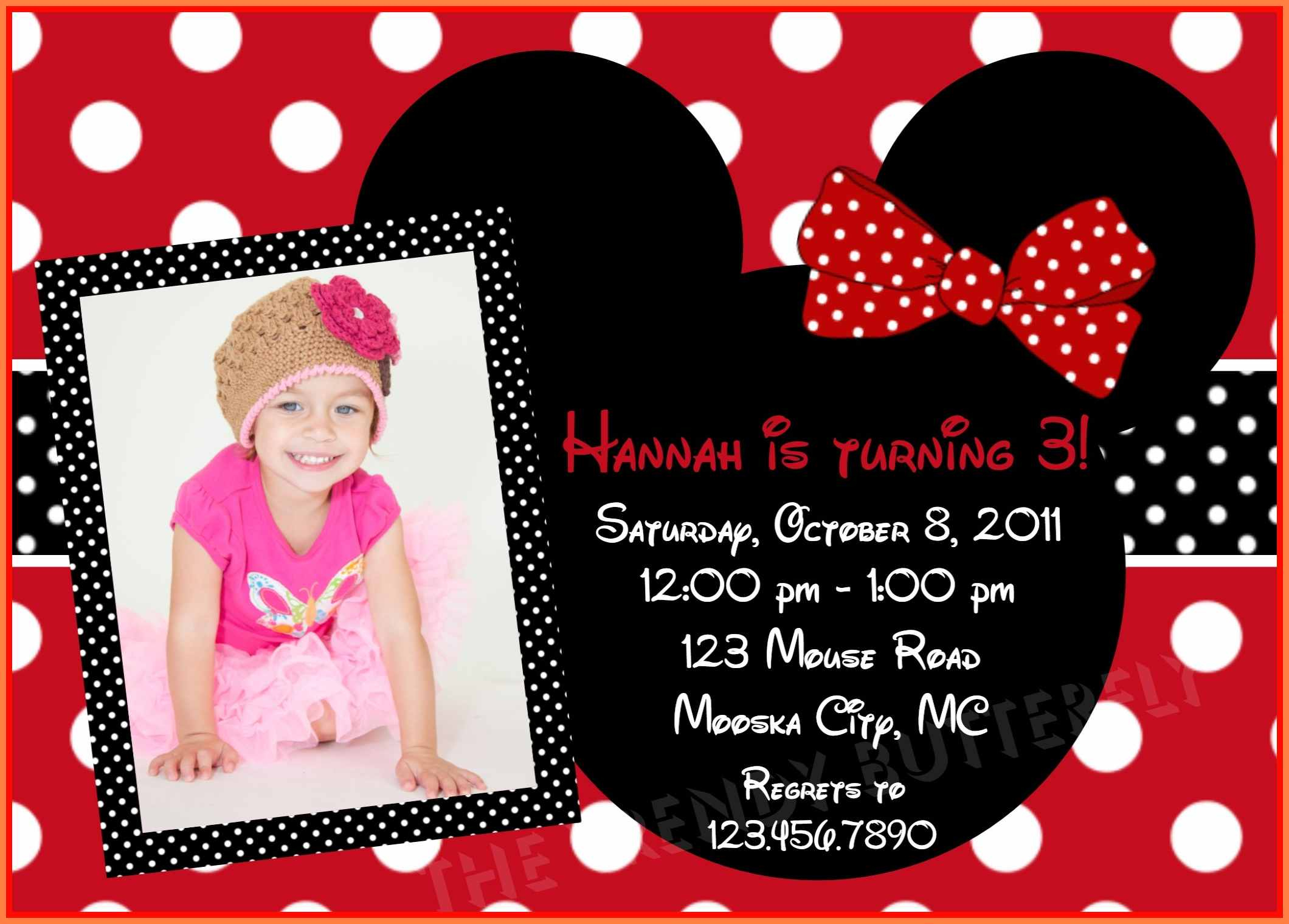 5+ Free Minnie Mouse Invitation Template | Andrew Gunsberg - Free Minnie Mouse Printable Templates