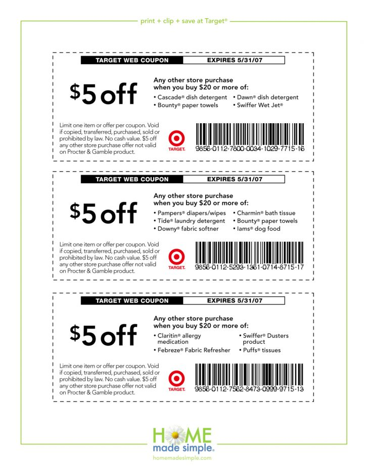 Free Printable Coupons 2017