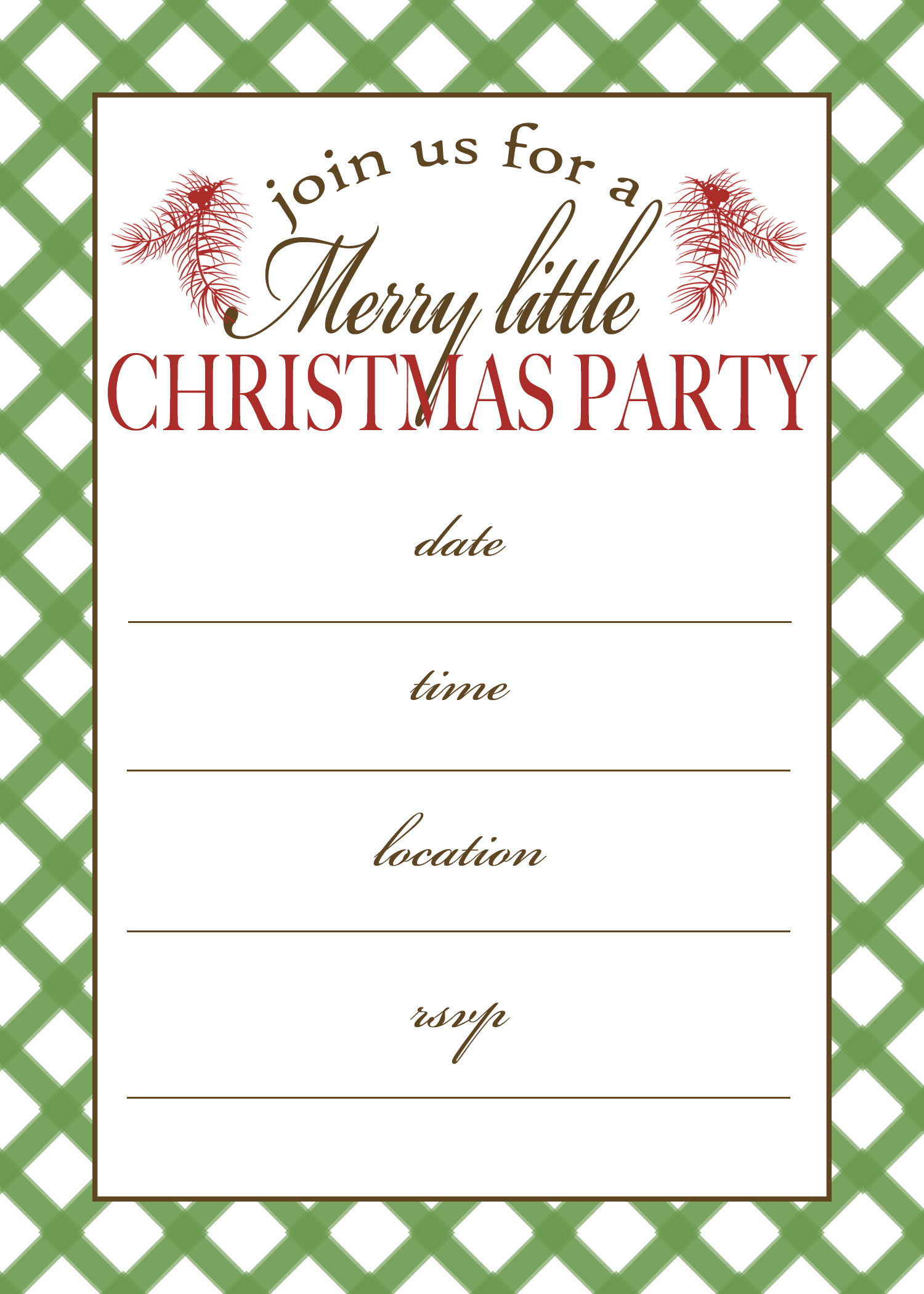 50 Beautiful Slumber Party Invitations | Kittybabylove - Free Printable Personalized Christmas Invitations