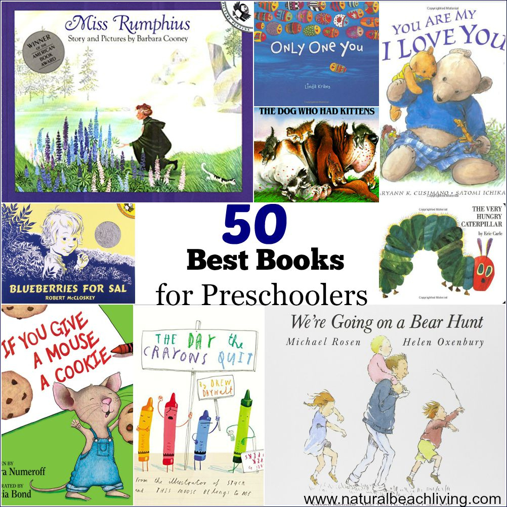 50 Best Books For Preschoolers - Free Printables Reading Logs - Free Printable Books For Kindergarten