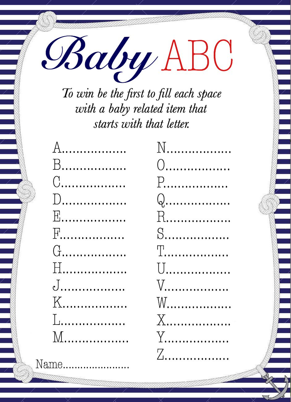 50+ Free Baby Shower Printables For A Perfect Party - Page 21 - Free Printable Templates For Baby Shower Games
