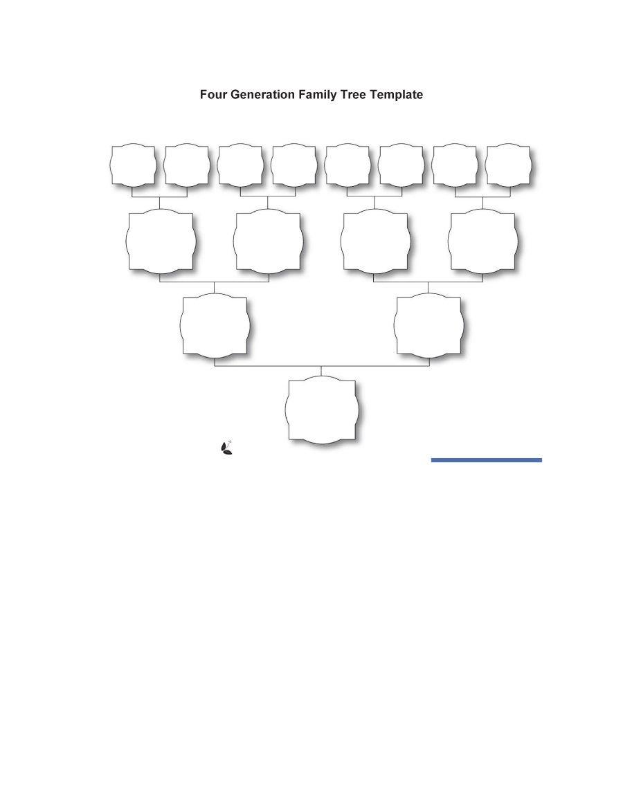 50+ Free Family Tree Templates (Word, Excel, Pdf) - Template Lab - Free Printable Family Tree Template 4 Generations