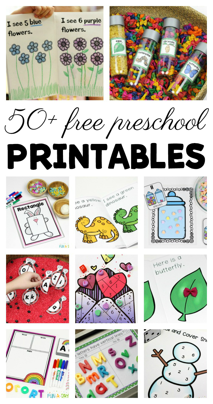 50+ Free Preschool Printables For Early Childhood Classrooms | Fun-A - Free Printable Early Childhood Activities