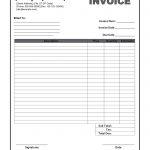 50 Free Printable Invoice Template Pdf | Techdeally   Free Printable Work Invoices