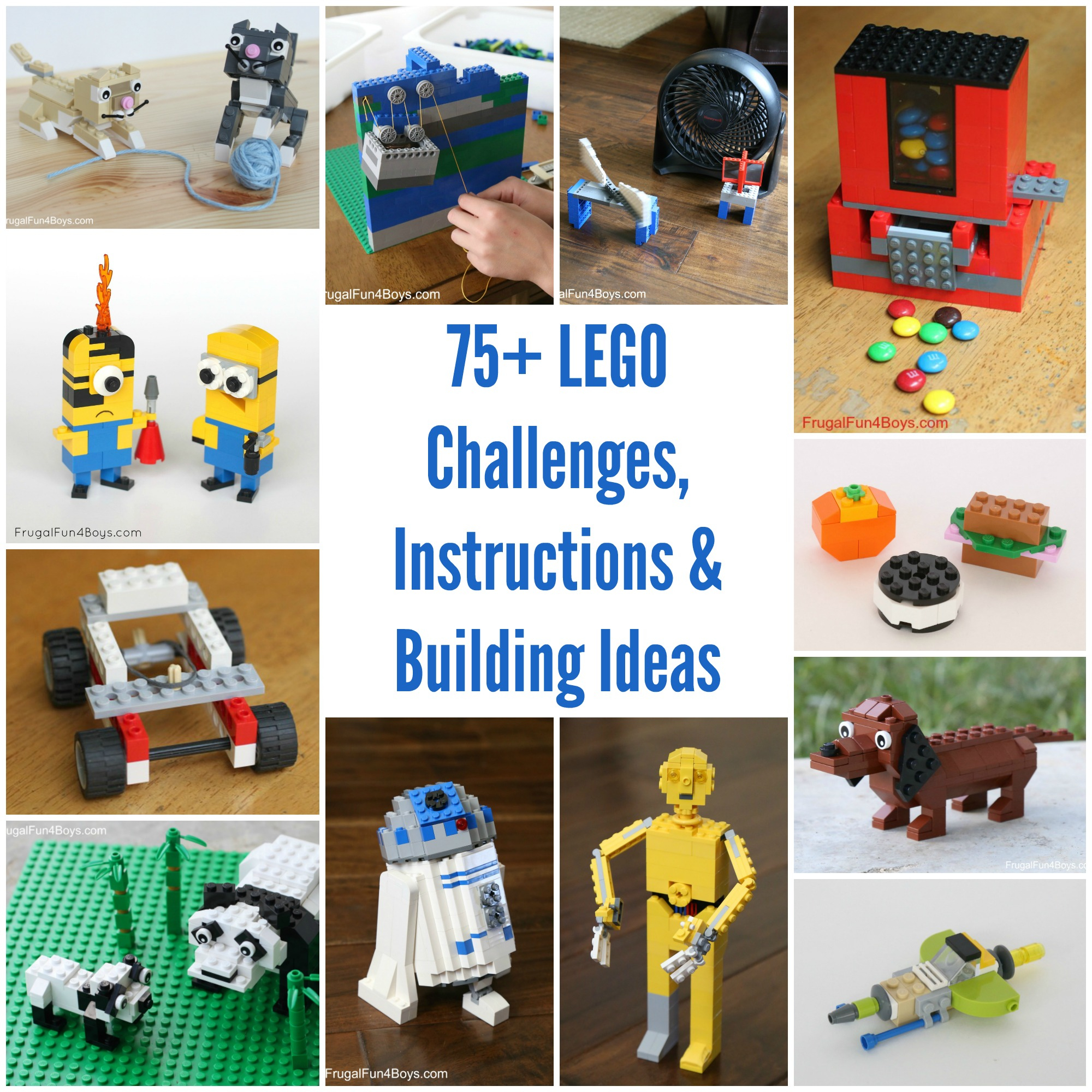 50+ Lego Building Projects For Kids - Frugal Fun For Boys And Girls - Free Printable Lego Instructions