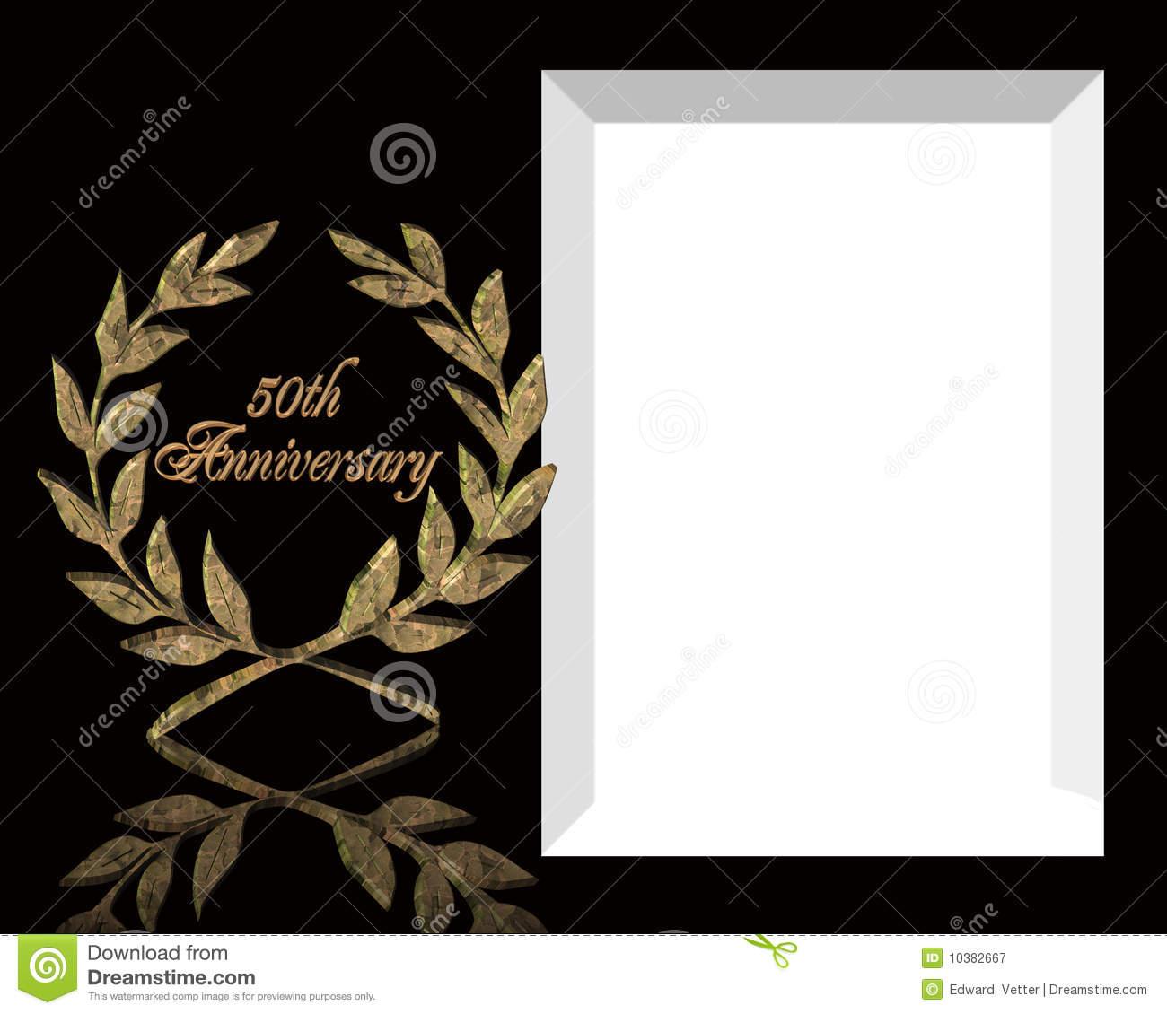 50Th Wedding Anniversary Invitation Stock Illustration - Free Printable 50Th Anniversary Cards