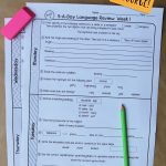 5Th Grade Daily Language Spiral Review   2 Weeks Free   Daily Language Review Grade 5 Free Printable