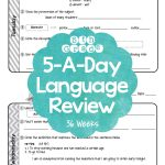 5Th Grade Daily Language Spiral Review Morning Work Editable   Daily Language Review Grade 5 Free Printable
