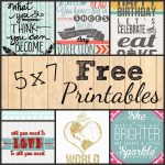 5X7 Free Printables. Comment To Have One Custom Made For Free! | Diy   Free Printable Quote Stencils