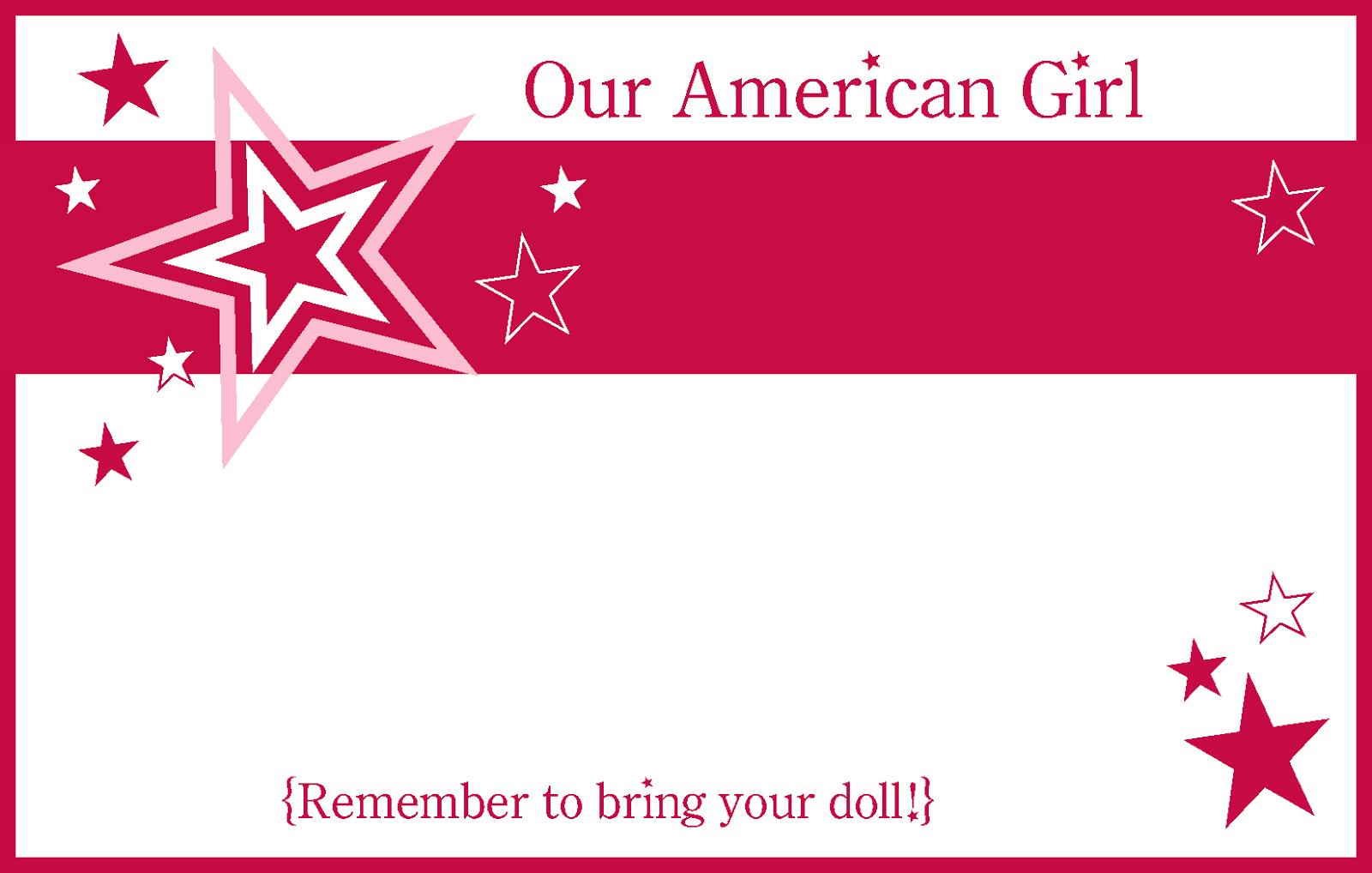 6/18/14American Girl Party Printablesamerican Girl Party Printables - American Girl Party Invitations Free Printable