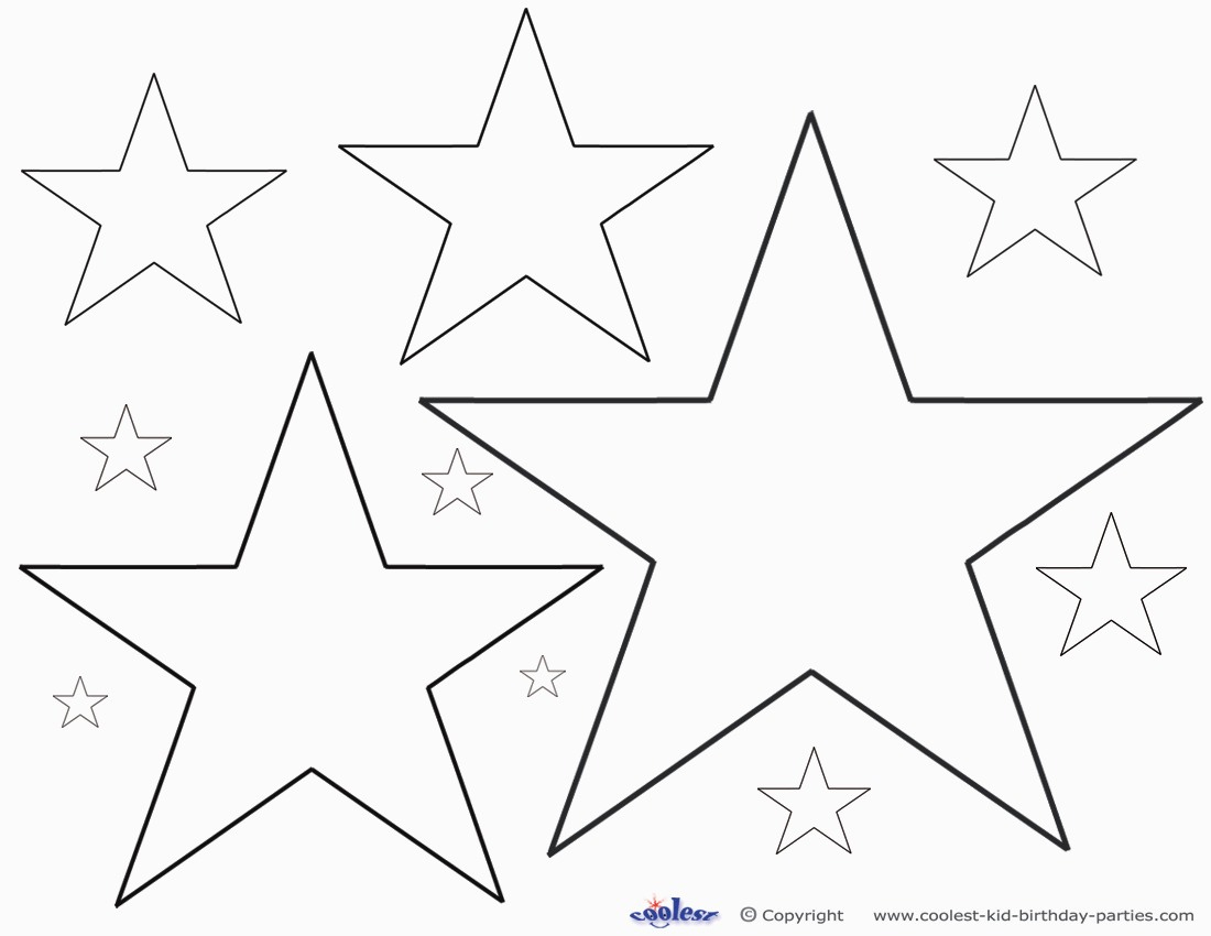 6 Best Of Different Size Star Stencils Printable For Free Printable - Free Printable Stars