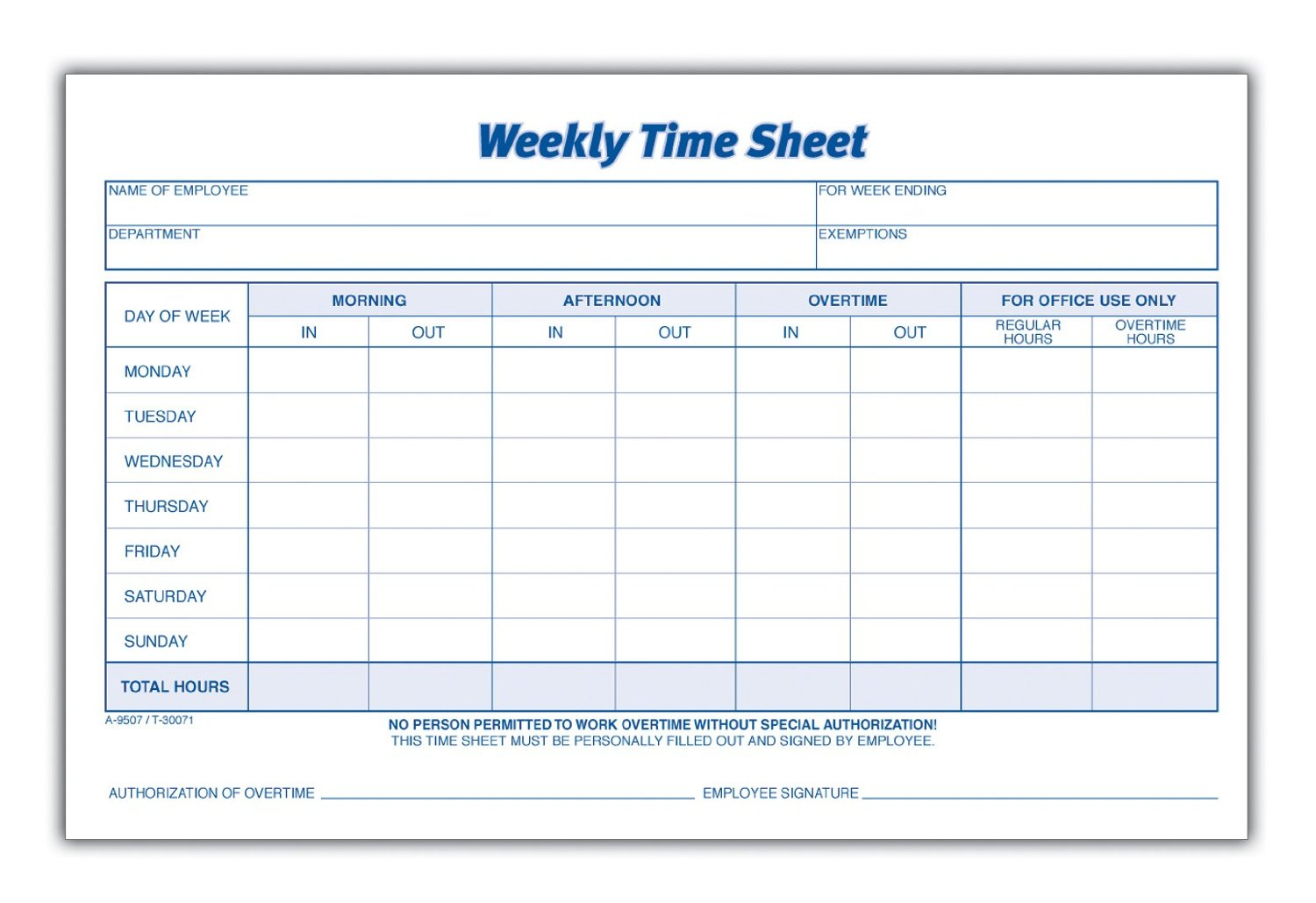 6 Excel Worker Time Card Template. Basic Time Card Template Pdf - Free Printable Time Cards