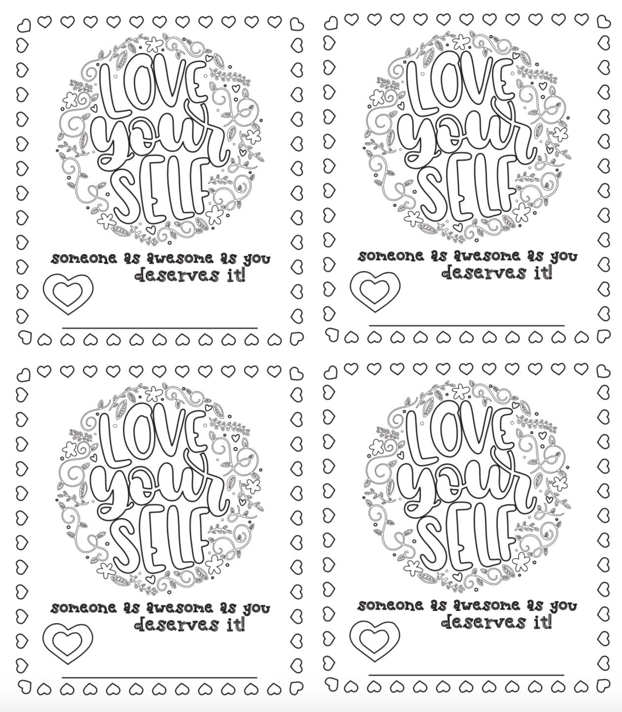 6 Free Printable, Color-Your-Own Valentines That Make The Perfect - Free Printable Color Your Own Cards