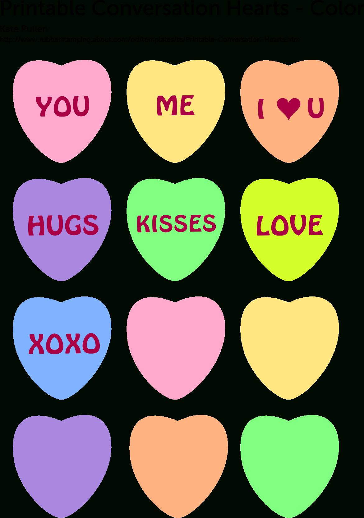 6 Free Printable Heart Templates | Hearts For Cancer Pt. | Printable - Free Printable Hearts