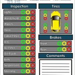 6 Free Vehicle Inspection Forms   Modern Looking Checklists For   Free Printable Vehicle Inspection Form