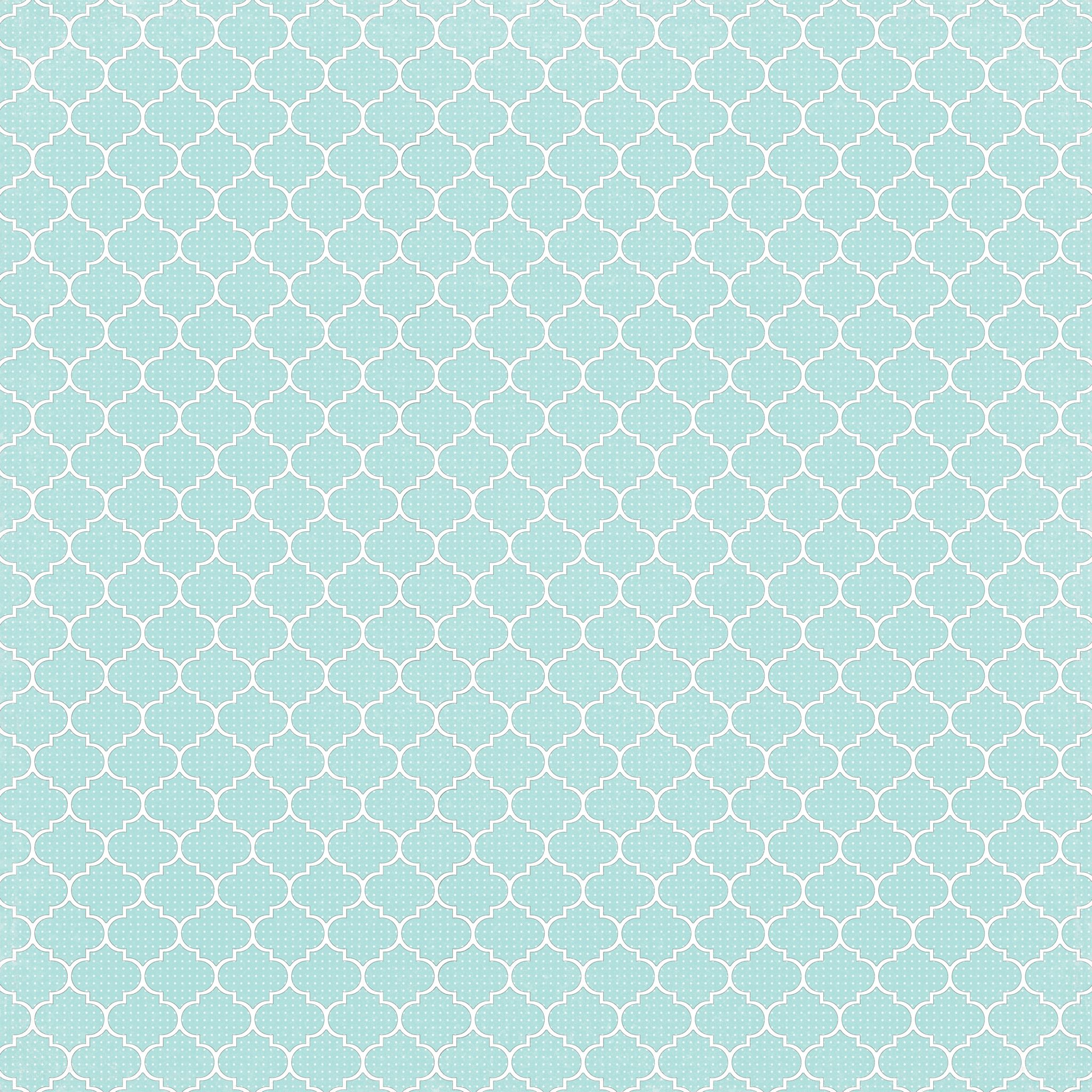 6 Light Turquoise Dotted Moroccan Tile - Free Printable Digital - Free Printable Moroccan Pattern