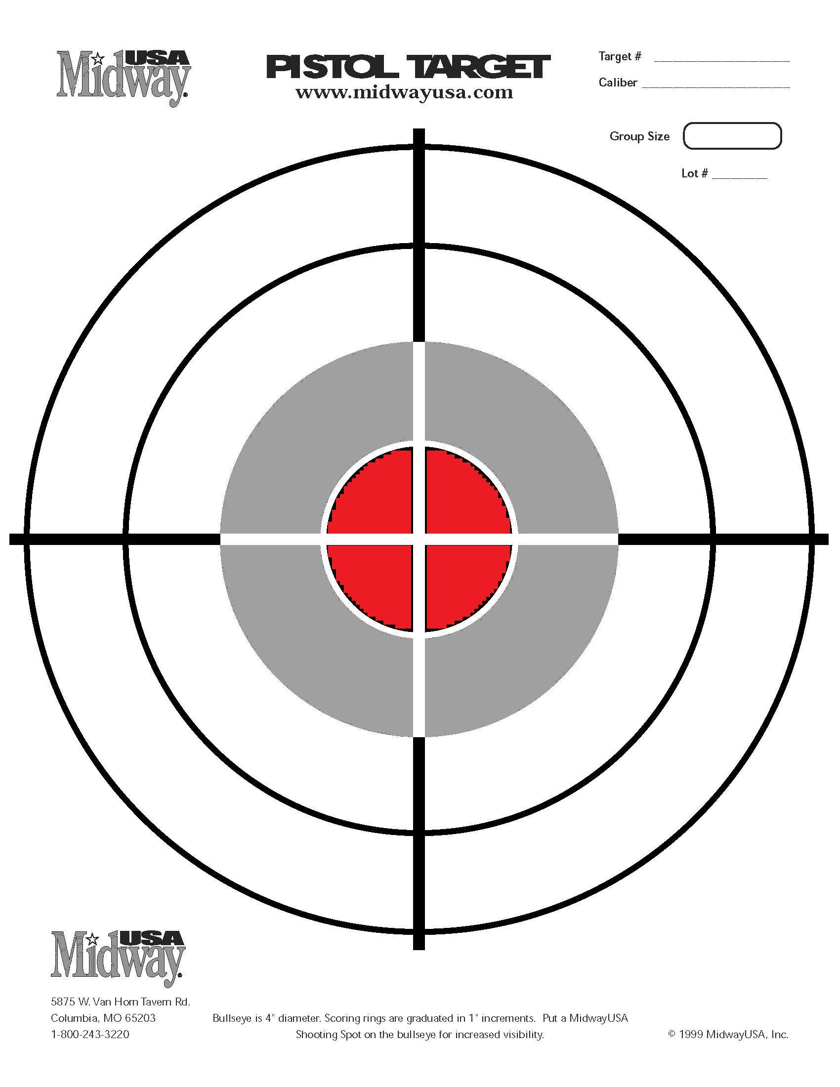 60 Fun Printable Targets   Kittybabylove - Free Printable Targets For Shooting Practice