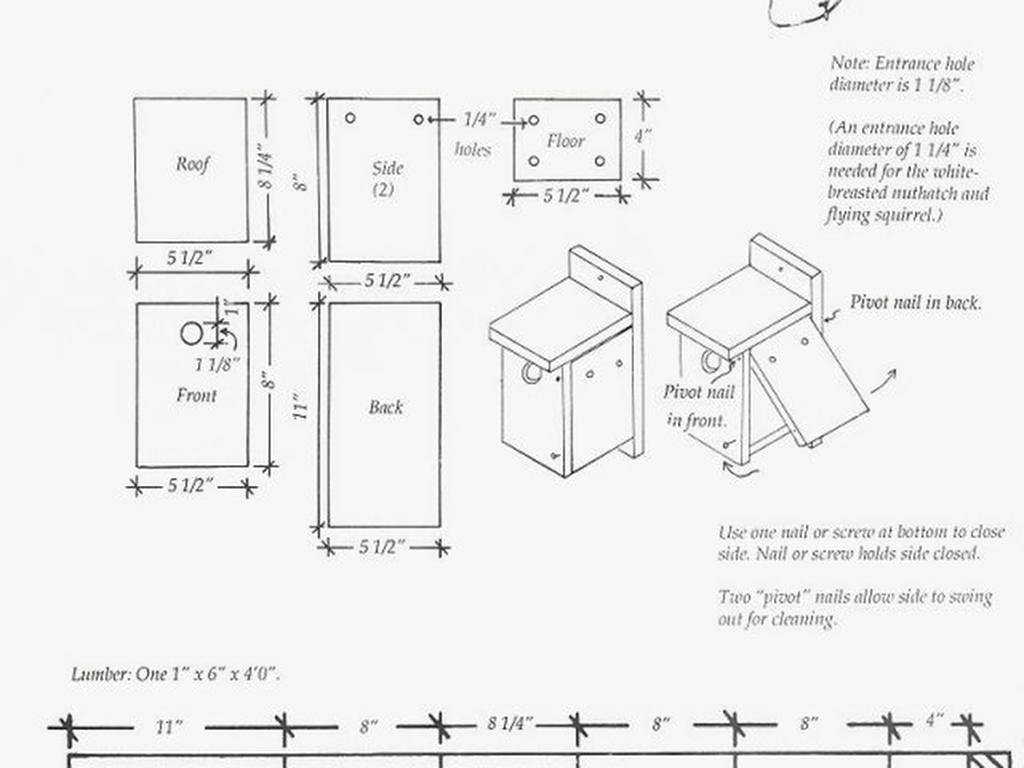 6052 Birdhouse Patterns Free Printable Inspirational 20 Best Bird - Free Printable Woodworking Plans