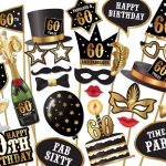 60Th Birthday Photo Booth Props   Instant Download Printable Pdf   Free Printable 70's Photo Booth Props