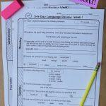 6Th Grade Daily Language Spiral Review   1 Week Free   Daily Language Review Grade 5 Free Printable
