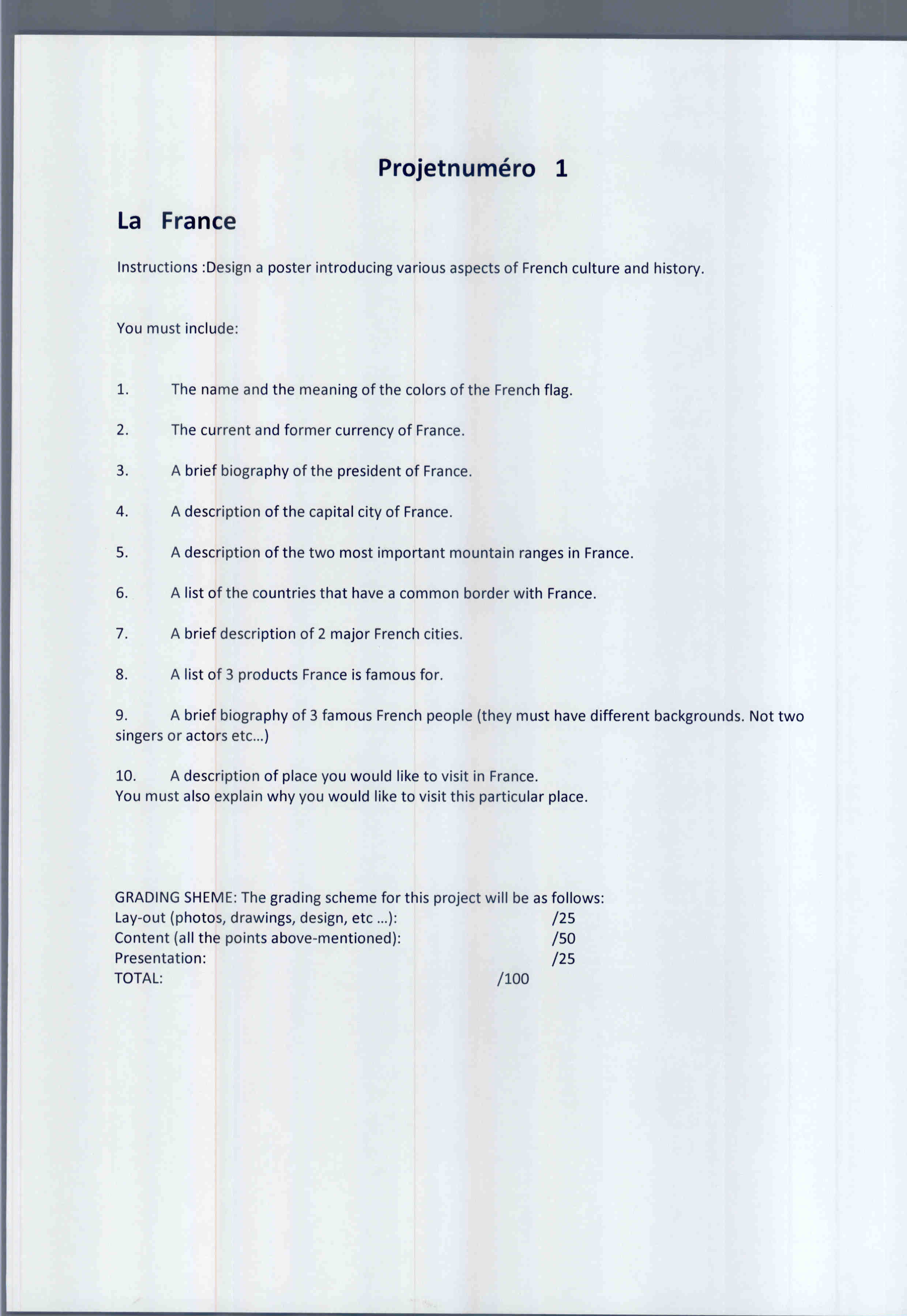 6Th Grade French | Madamebarrilleaux - 6Th Grade Writing Worksheets Printable Free