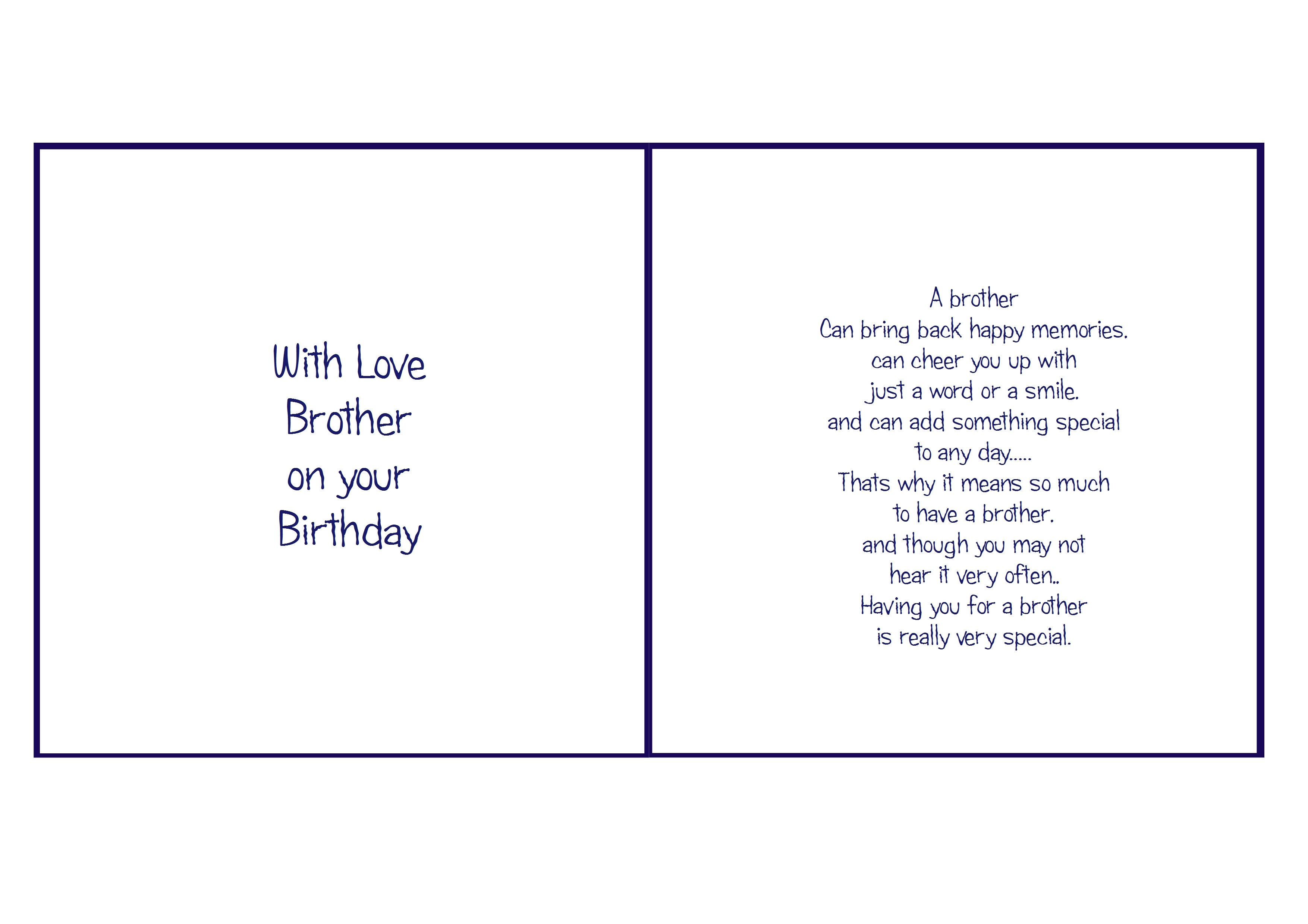6X6 Brother Birthday | Card Verses | Pinterest | Christmas Card - Free Printable Birthday Cards For Brother