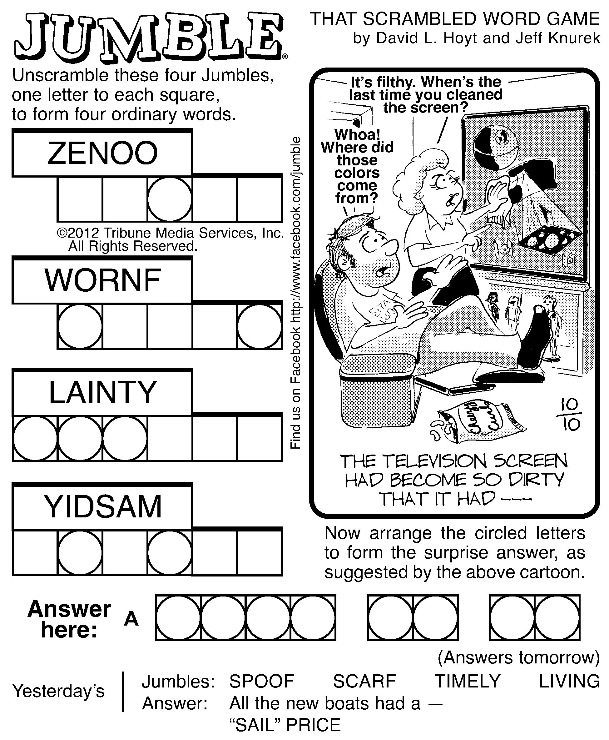 7 Best Images Of Printable Jumble Word Puzzles Coping   Jumble - Free Printable Jumble Word Games