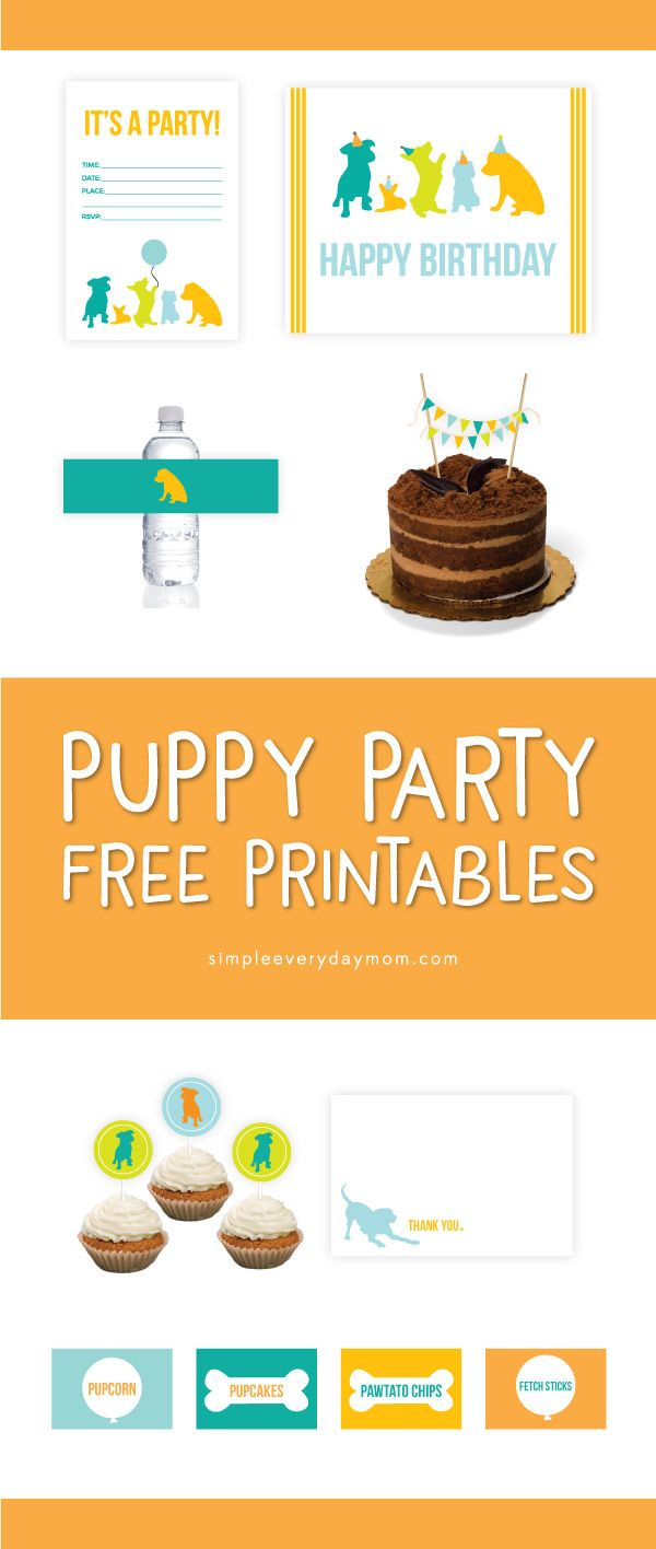 7 Free Puppy Party Printables That'll Make Your Child's Birthday - Dog Birthday Invitations Free Printable