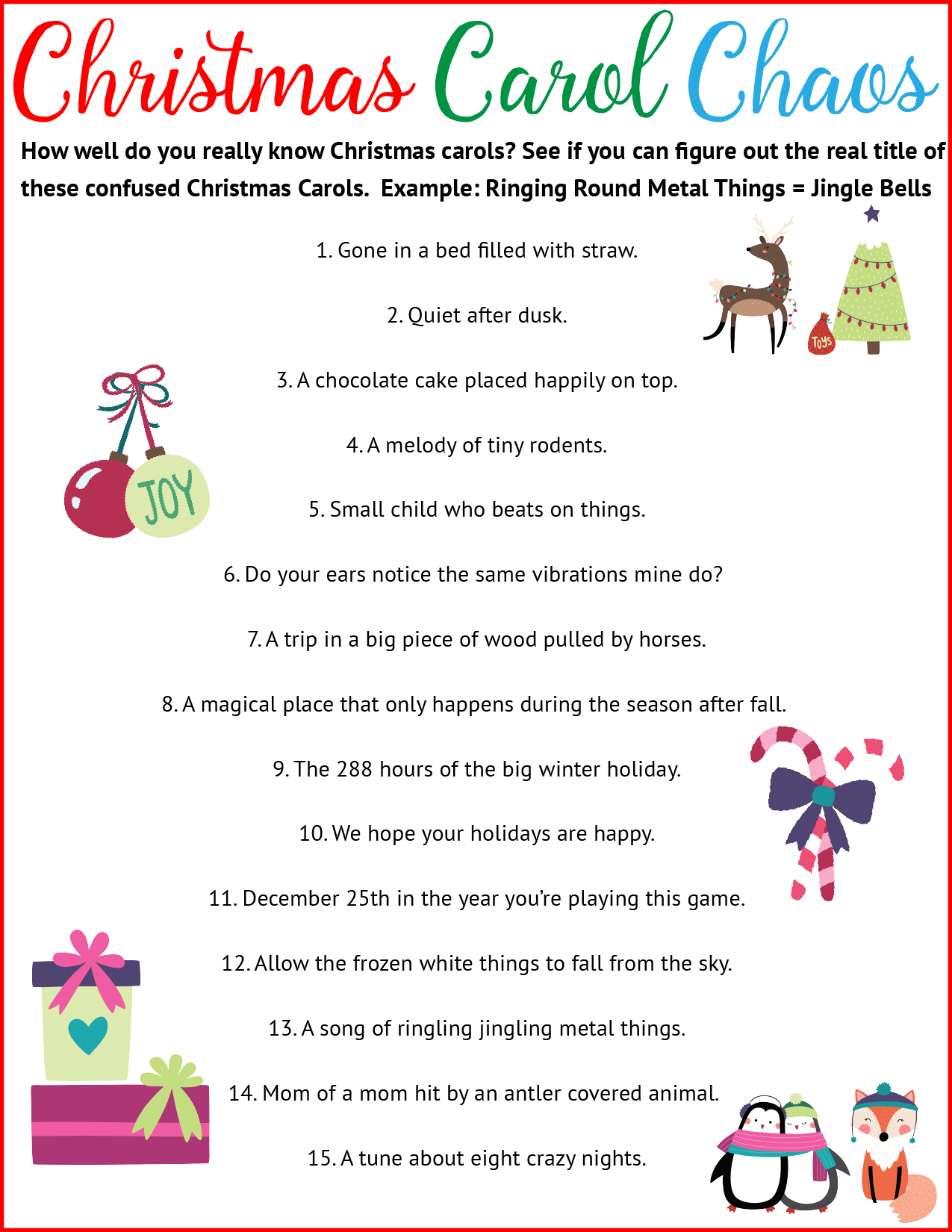 7 Must-Reads Tips For Hosting The Best Christmas Party Ever - Christmas Song Scramble Free Printable