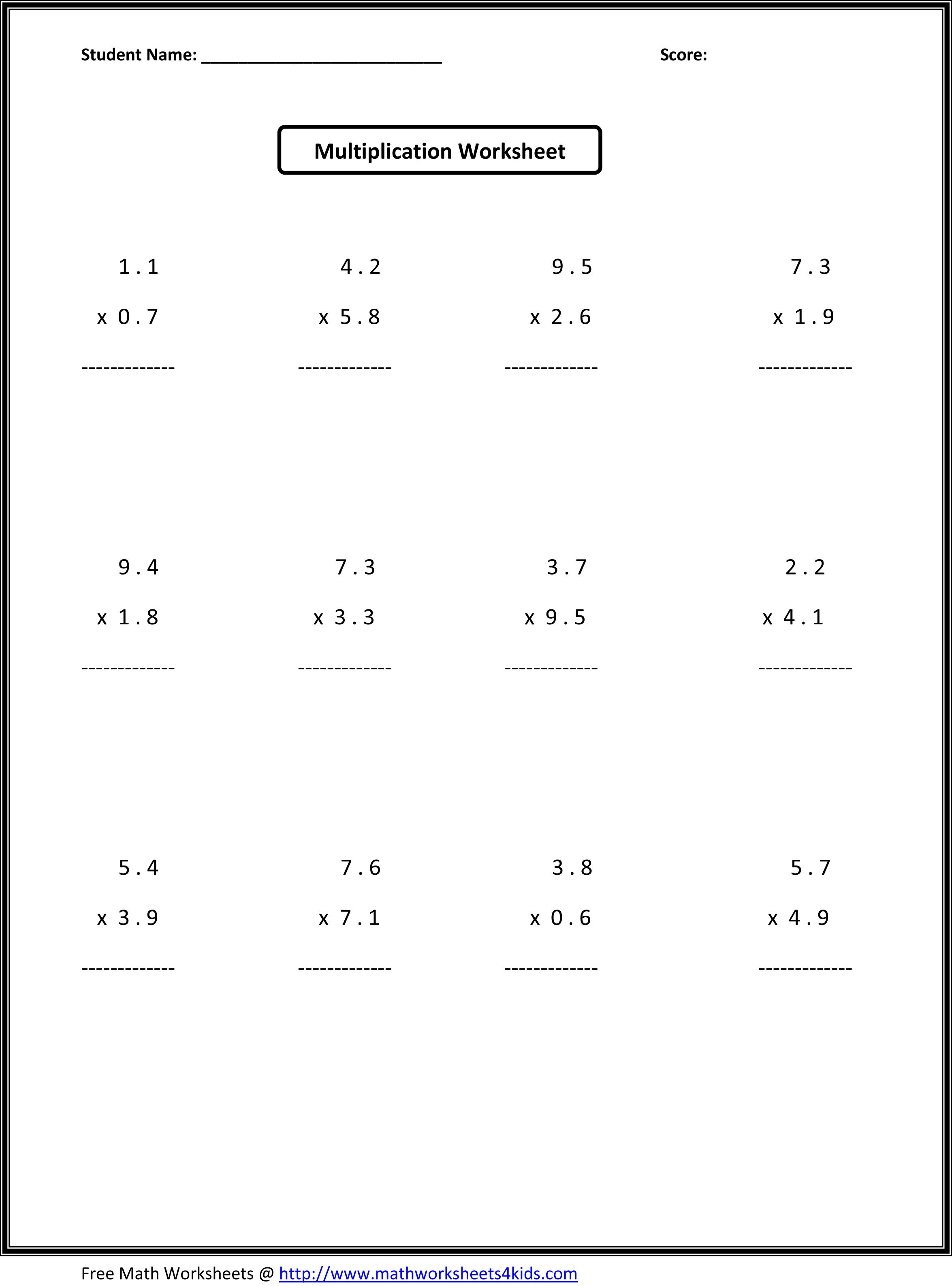 7Th Grade Math Worksheets | Value Worksheets Absolute Value - Free Printable Math Worksheets 6Th Grade Order Operations