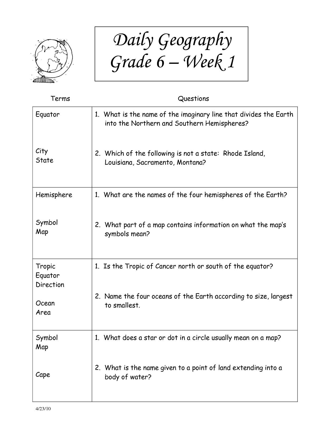 7Th Grade Social Studies Worksheets – Worksheet Template - Free Printable Worksheets For 2Nd Grade Social Studies