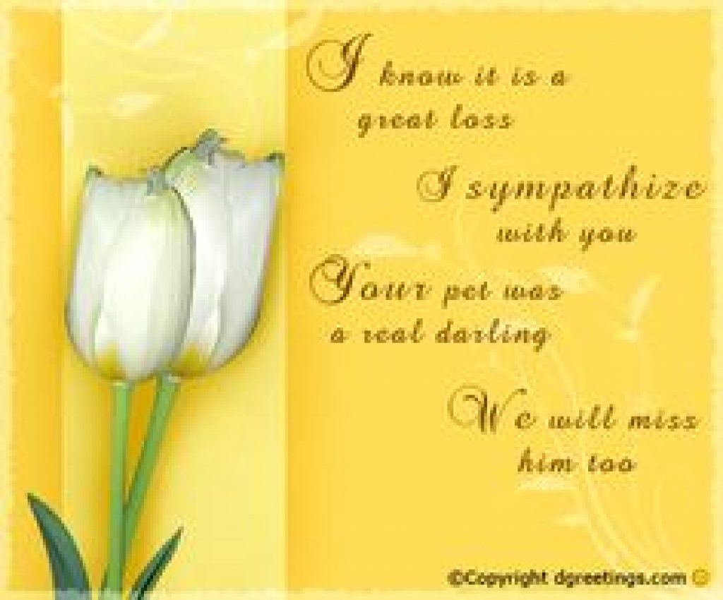 8 Best Cards & Words For Cards Images On Pinterest | Condolences - Free Printable Sympathy Cards For Dogs