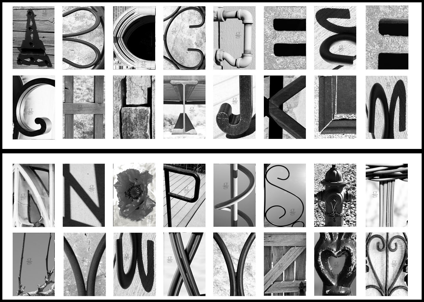 8 Best Images Of Free Alphabet Photography Letters - Free Printable - Free Printable Photo Letter Art