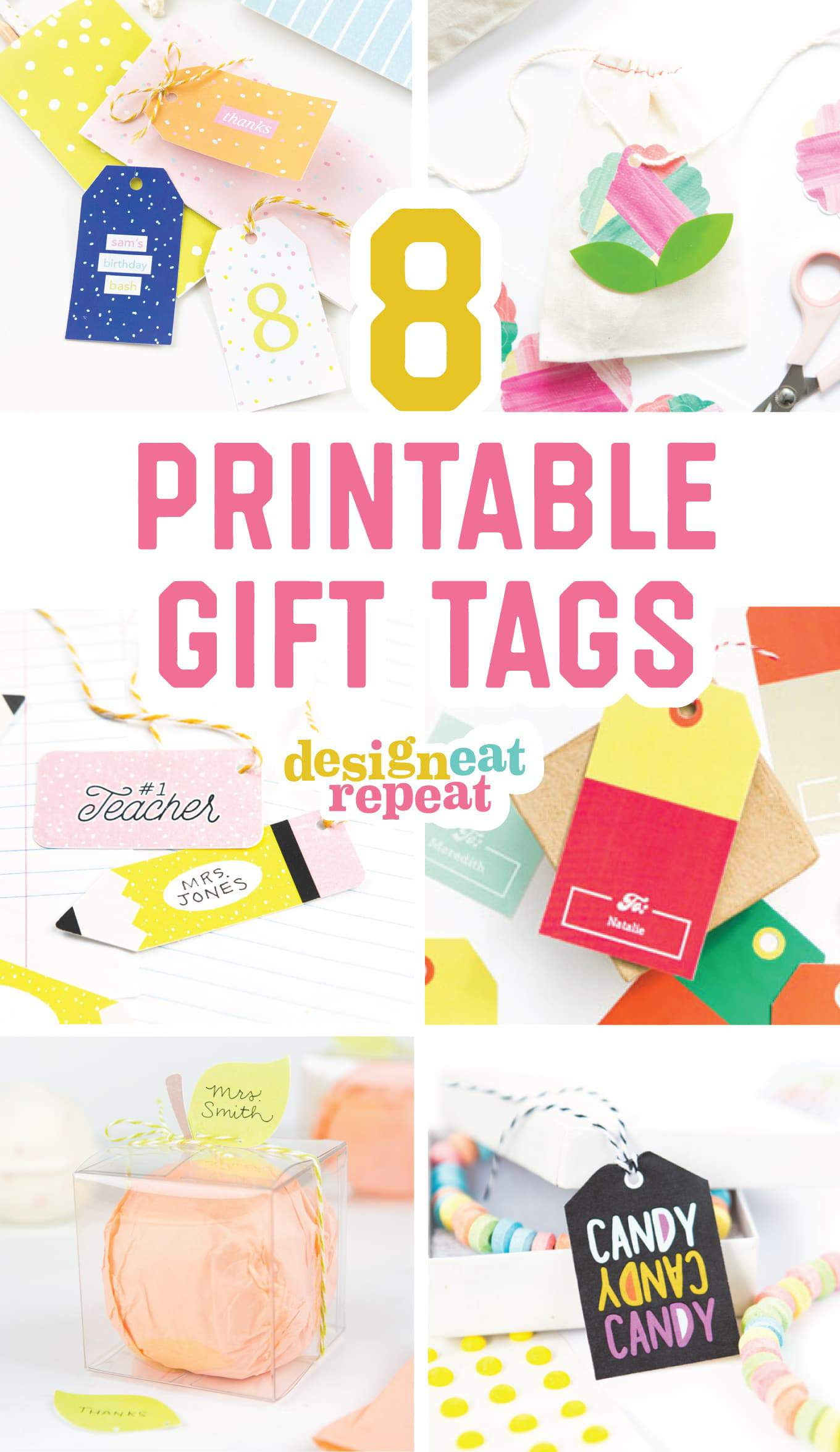 8 Colorful & Free Printable Gift Tags For Any Occasion! - Free Printable Customizable Gift Tags