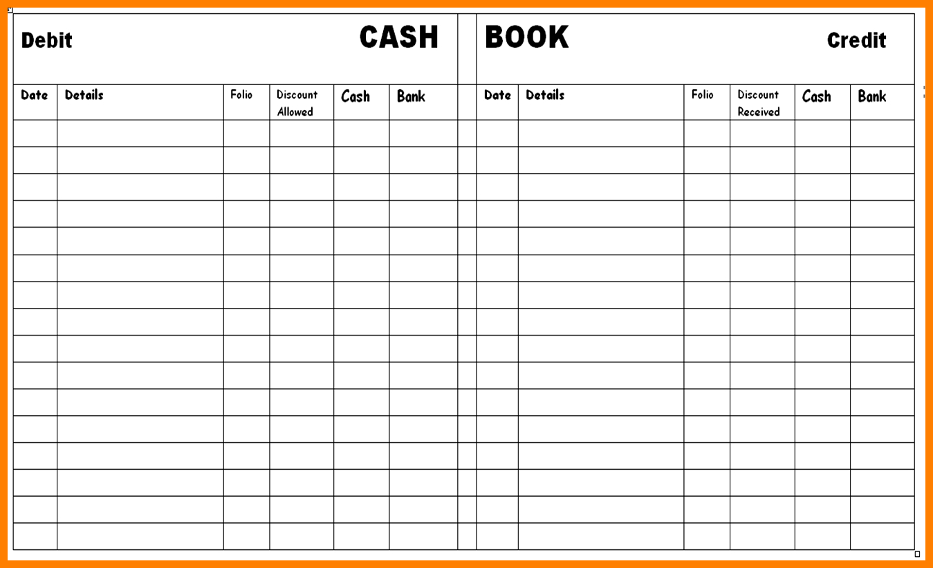 8+ Free Printable Accounting Ledger | Ledger Review - Free Cash Book Template Printable