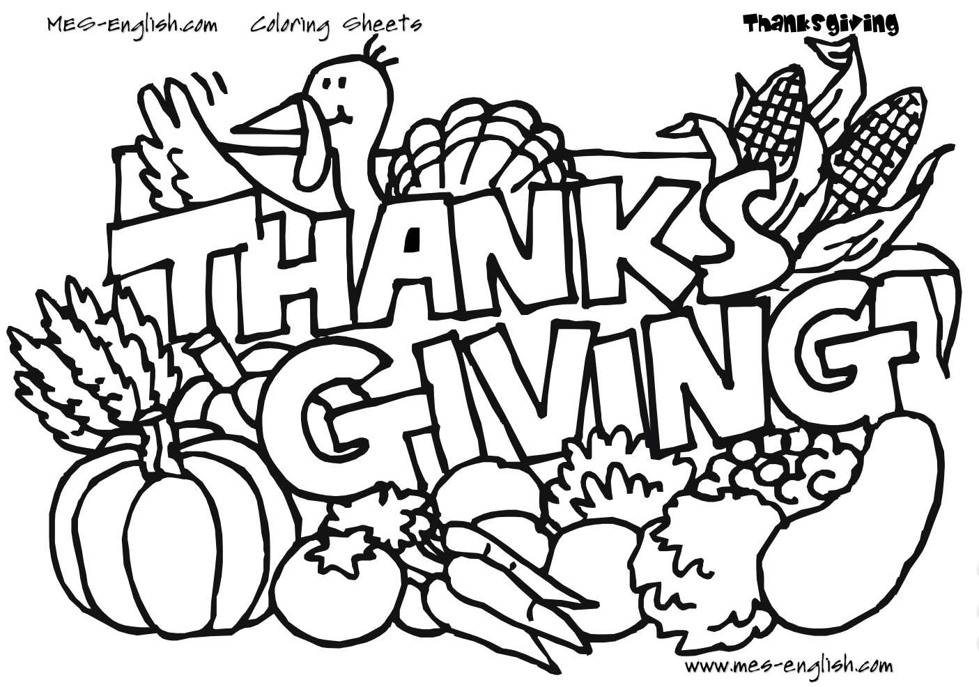 8 Free Thanksgiving Printables For Your Home And Family - Free Printable Thanksgiving Turkey Template