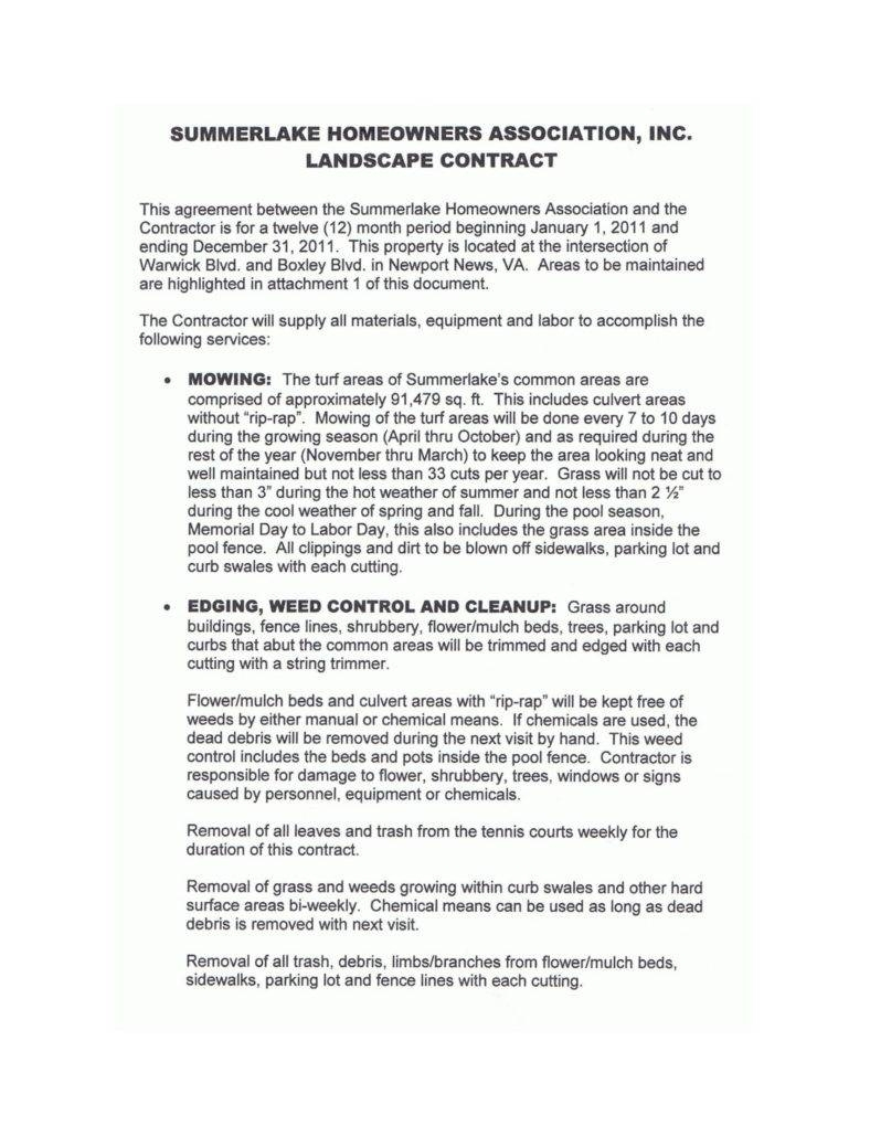 8+ Landscaping Services Contract Templates - Docs, Word | Free - Free Printable Home Improvement Contracts
