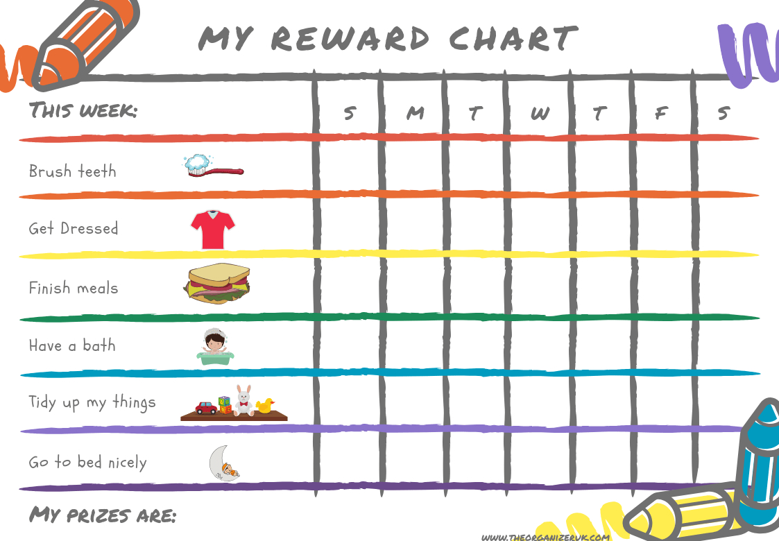 8 Of The Best Free Printable Kids Chore Charts ~ The Organizer Uk - Free Printable Toddler Chore Chart
