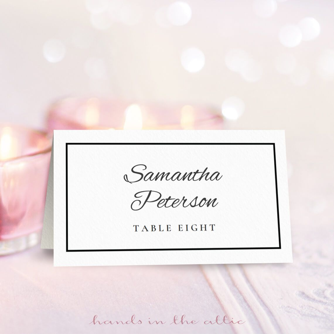 8 Sets Of Wedding Place Card Templates - Free Printable Place Cards Template