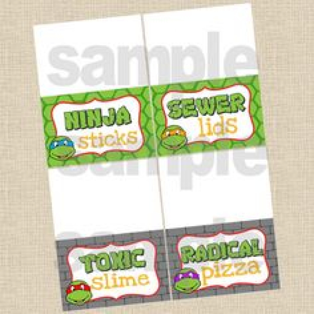 80 Best Ninja Turtle Party Images On Pinterest | Birthday Party - Free Printable Tmnt Food Labels