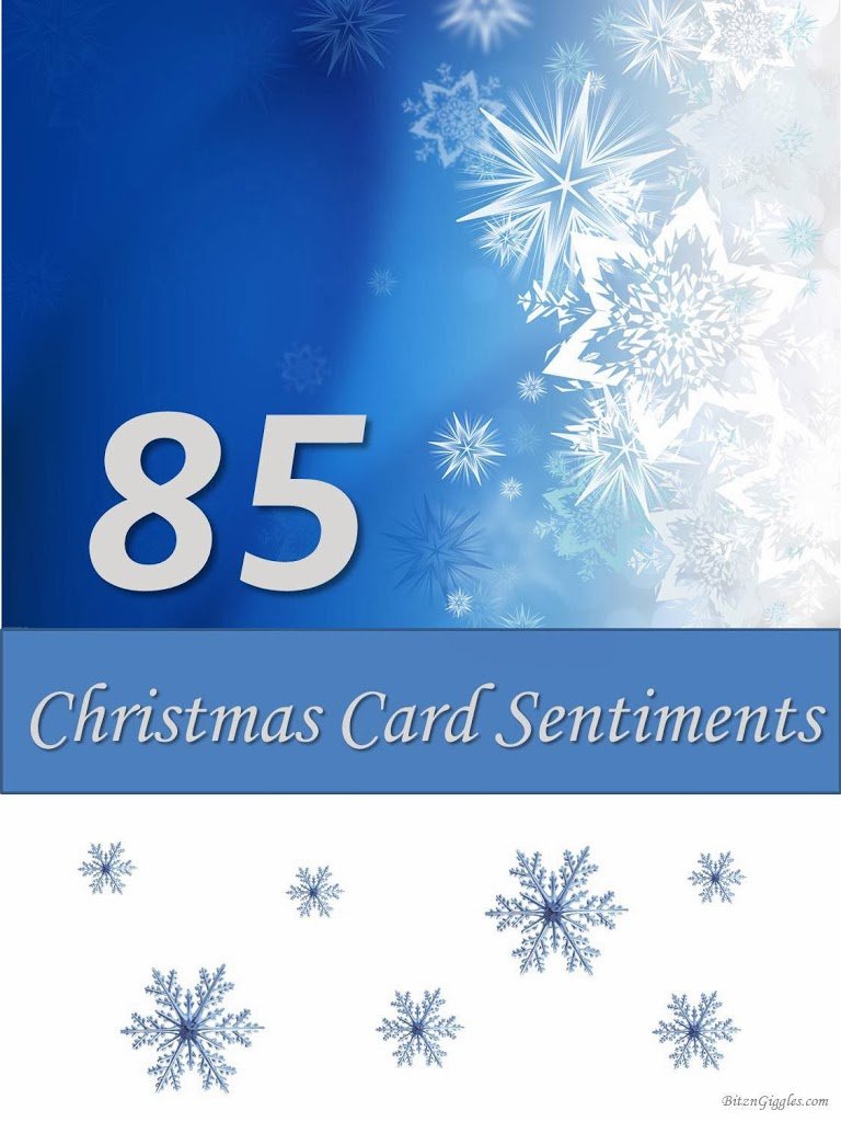 85 Christmas Card Sentiments - Free Printable Greeting Card Sentiments